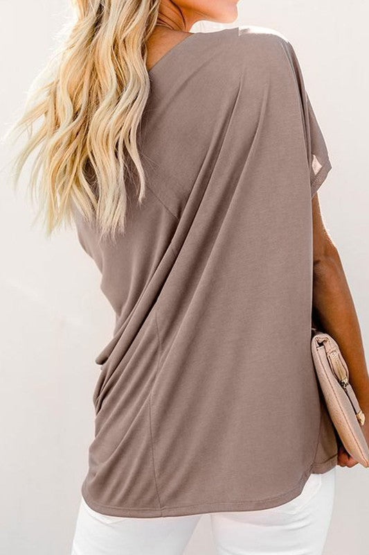 Soft and Stretchy Apricot Tee