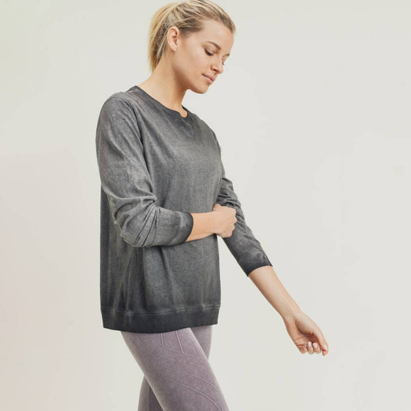 Dirty-Wash Essential Pullover