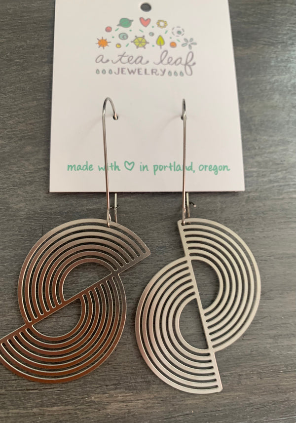 Split Circle Earrings Silver