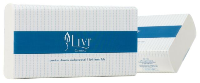 Livi Essentials Ultraslim handtowel - Carton of 16