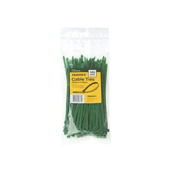 Tridon Green Cable Ties - 200mm x 4.8mm