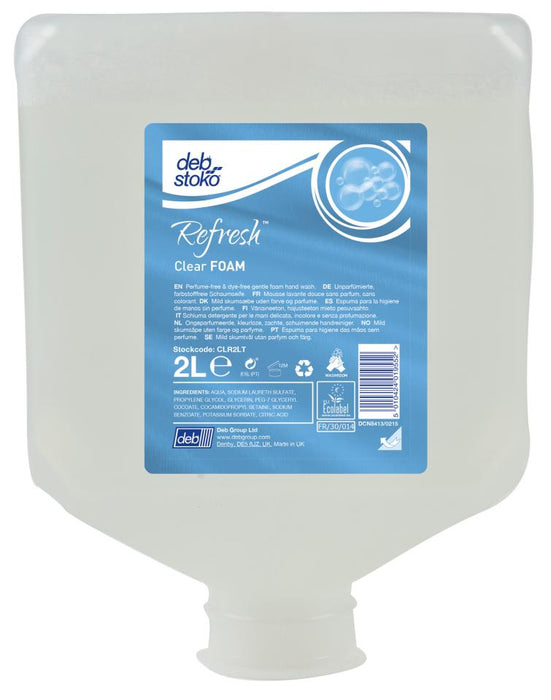 Deb Stoko Refresh Clear Foam Foam Wash 2 Litre Cartridge