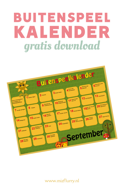 Buitenspeelkalender september