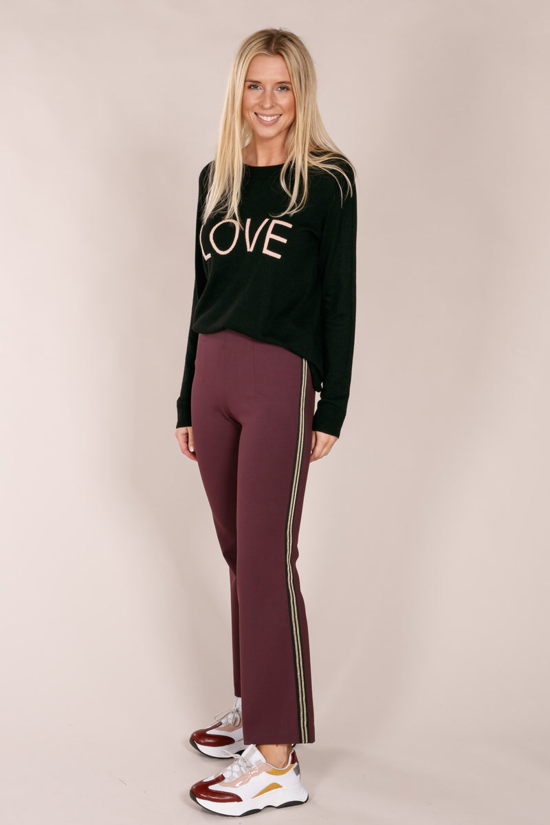 Montae flared pants - Plum