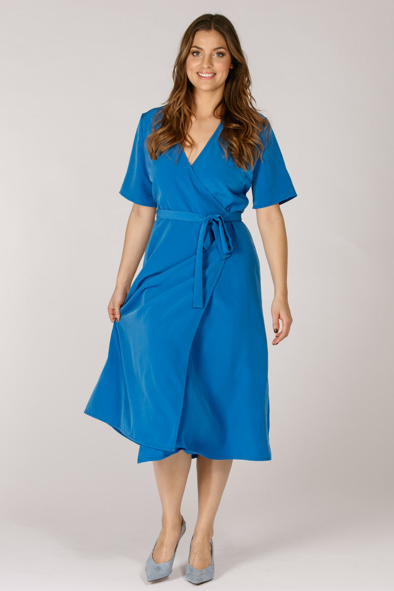 Sasha wrap dress - Sky blue