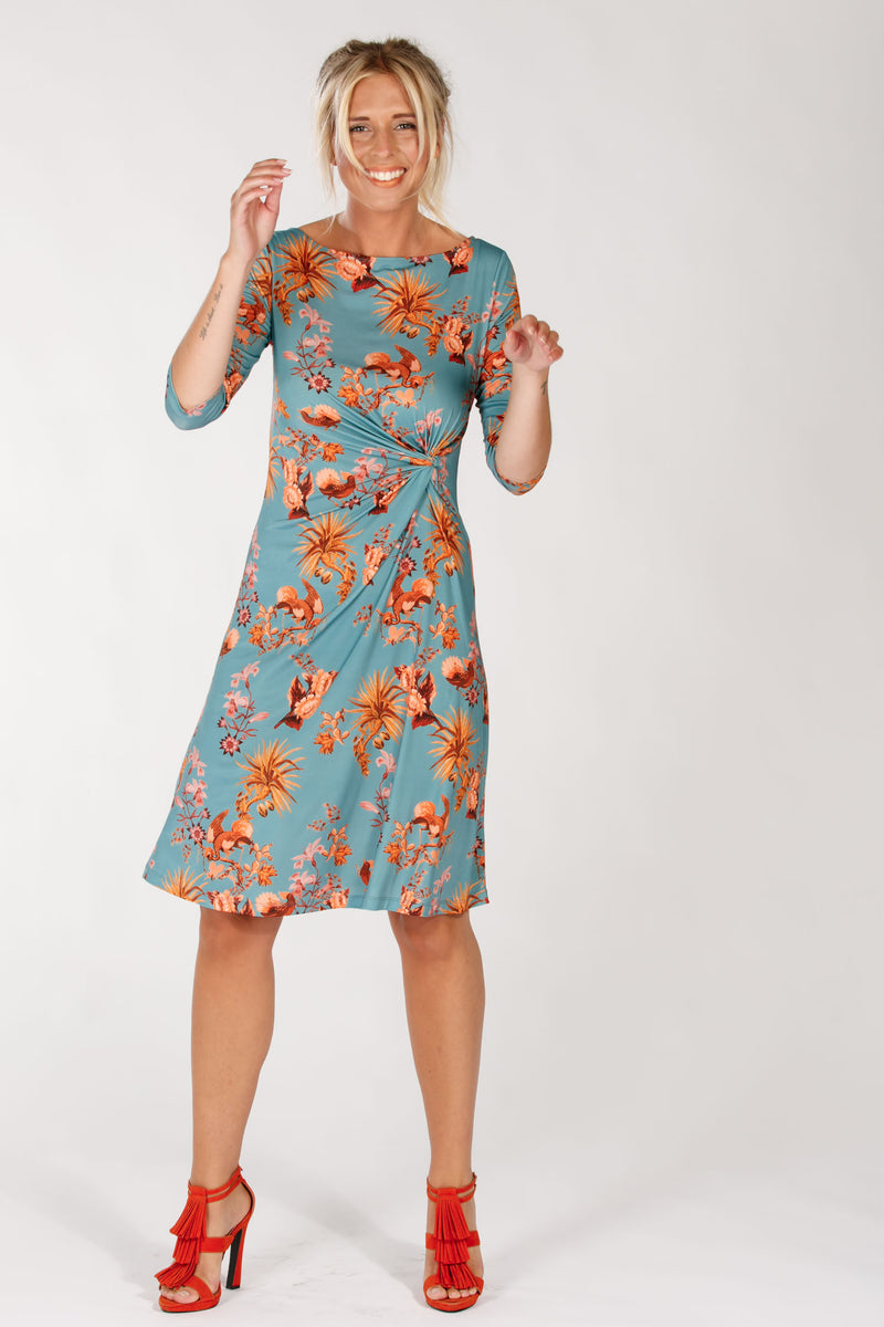 Arizona drape dress - Blue