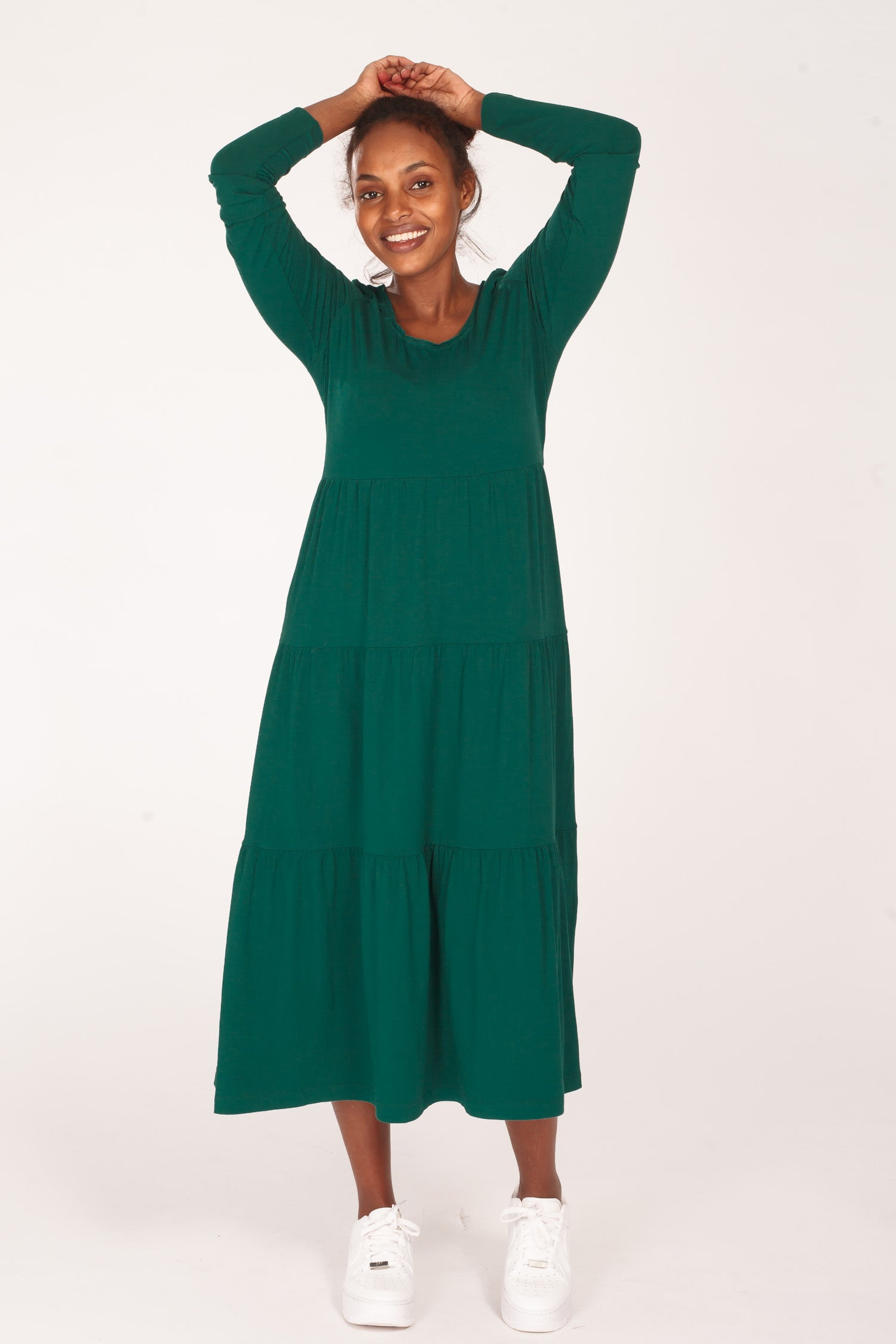 Forever mine jersey dress - Dark green