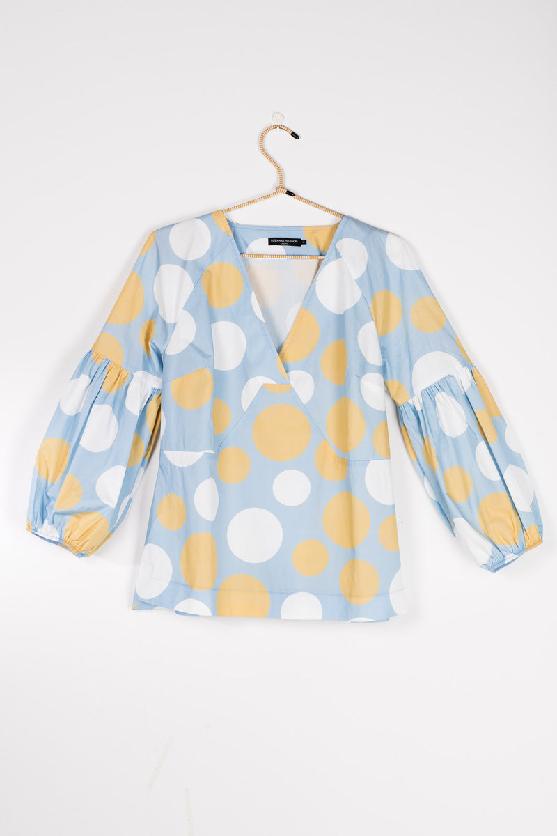 Colette poplin blouse - Yellow dot