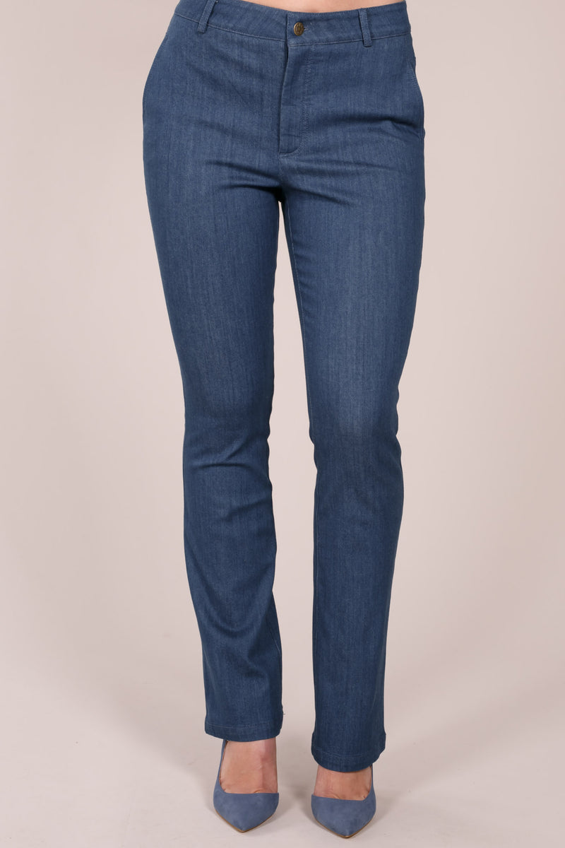 Ditte denim long trousers - Light blue