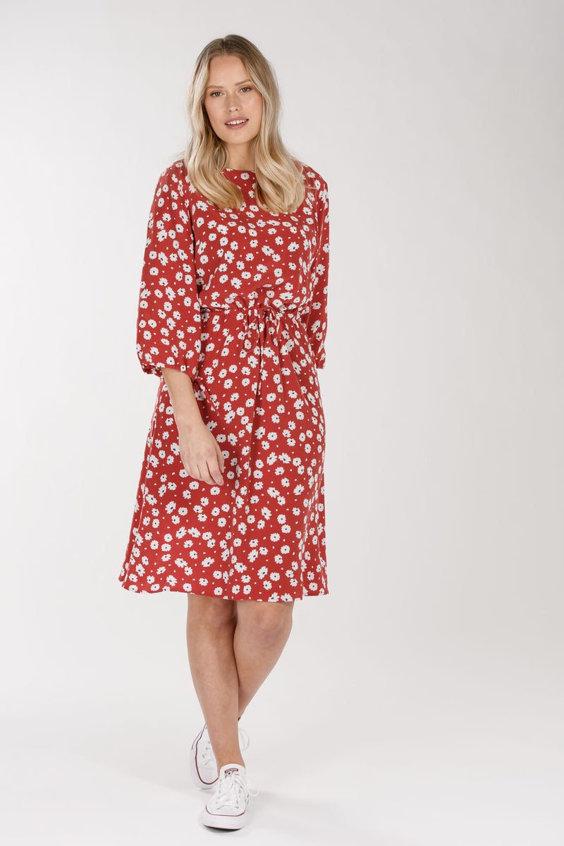 Meadow flare dress - Red