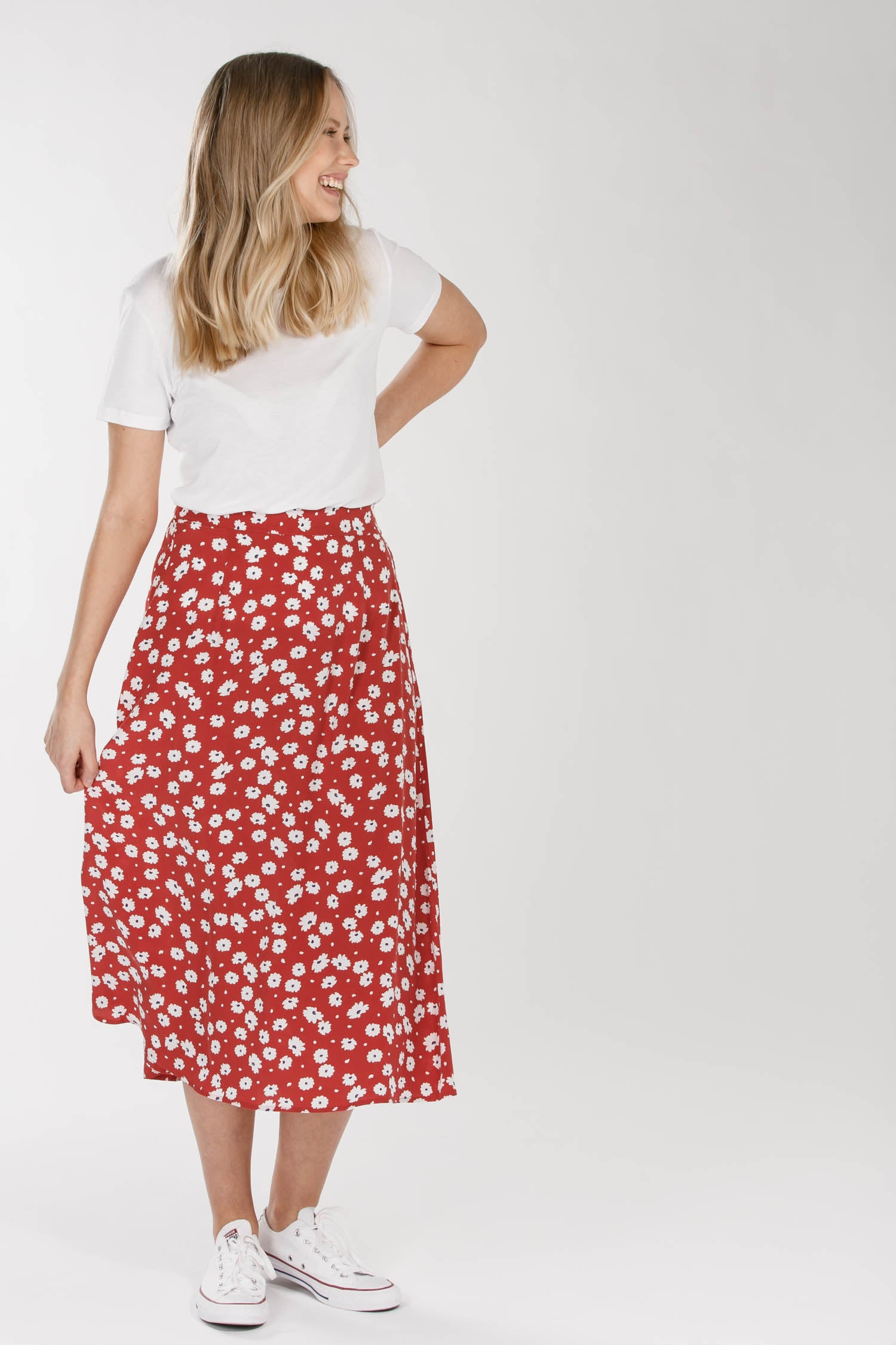 Meadow flare skirt - Red