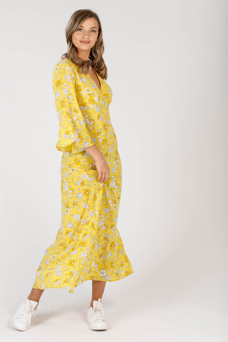 Yellow mellow long dress - Yellow