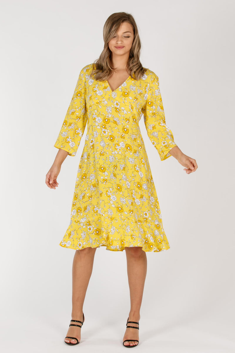 Yellow mellow short dress - Yellow