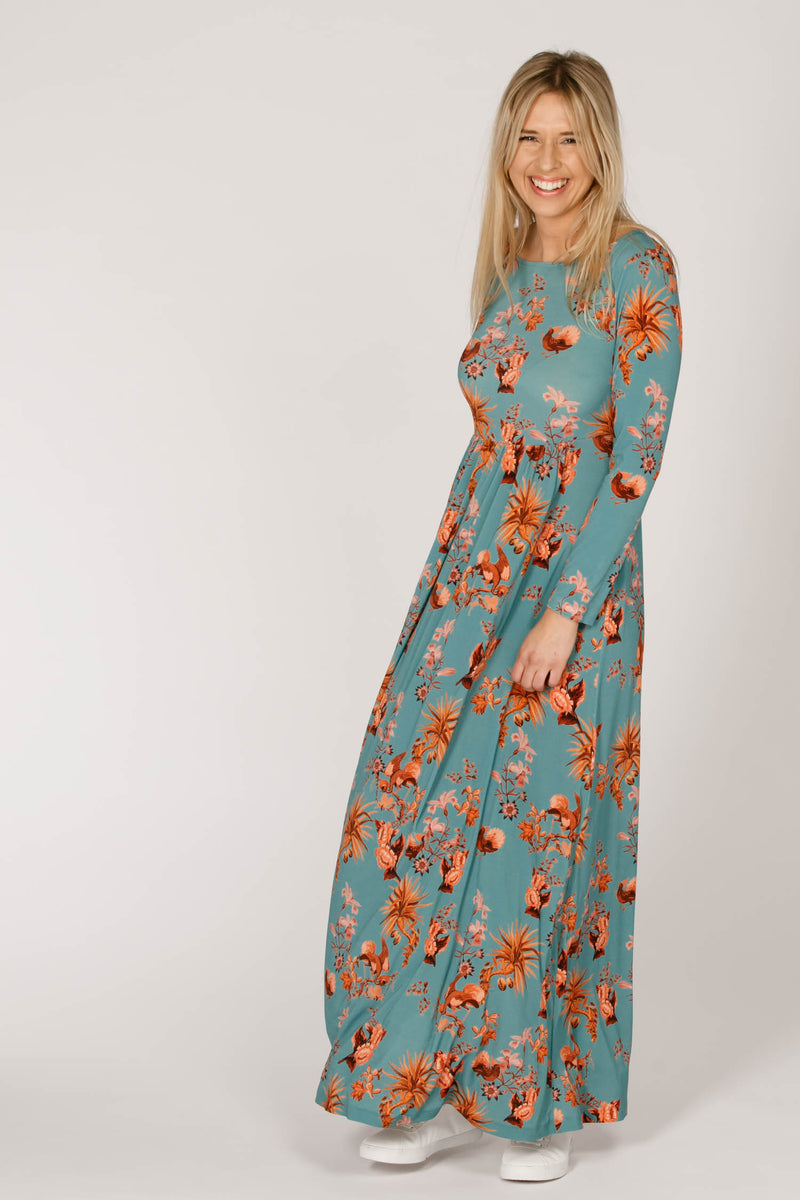 Arizona long dress - Blue