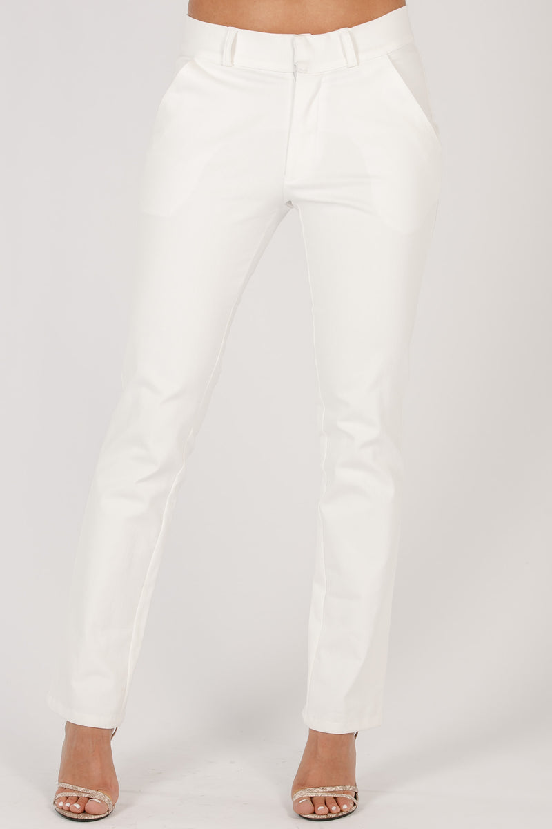 Nikki long trousers - White