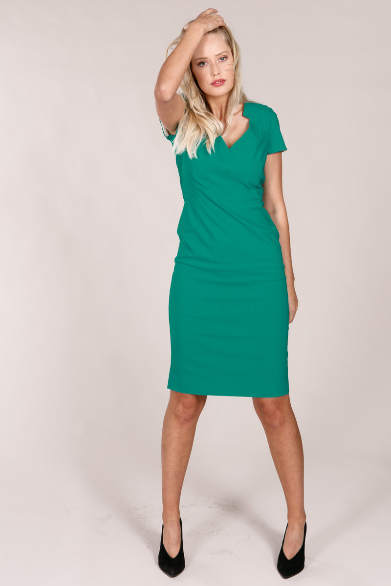 London dress - Emerald