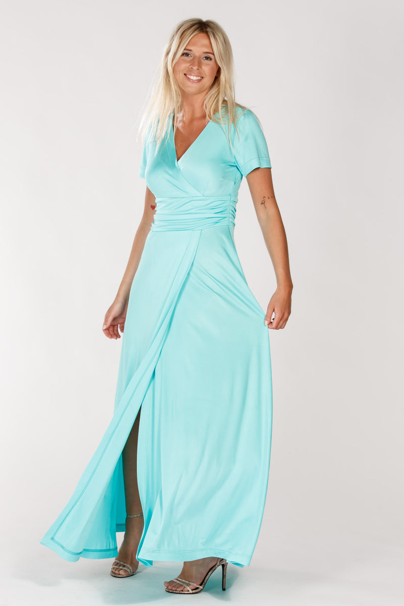 Milan long dress - Turquiose