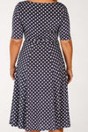 Paris dress - Blue w dots