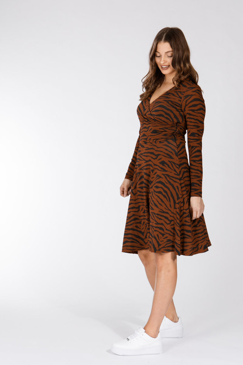 Jaipur dress - Brown tiger