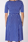 Paris dress - Blue with dots
