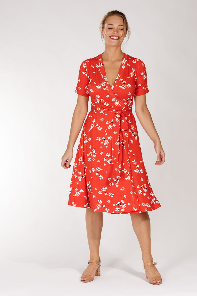 Malin dress - Red flower