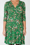 Edit dress - Green flower