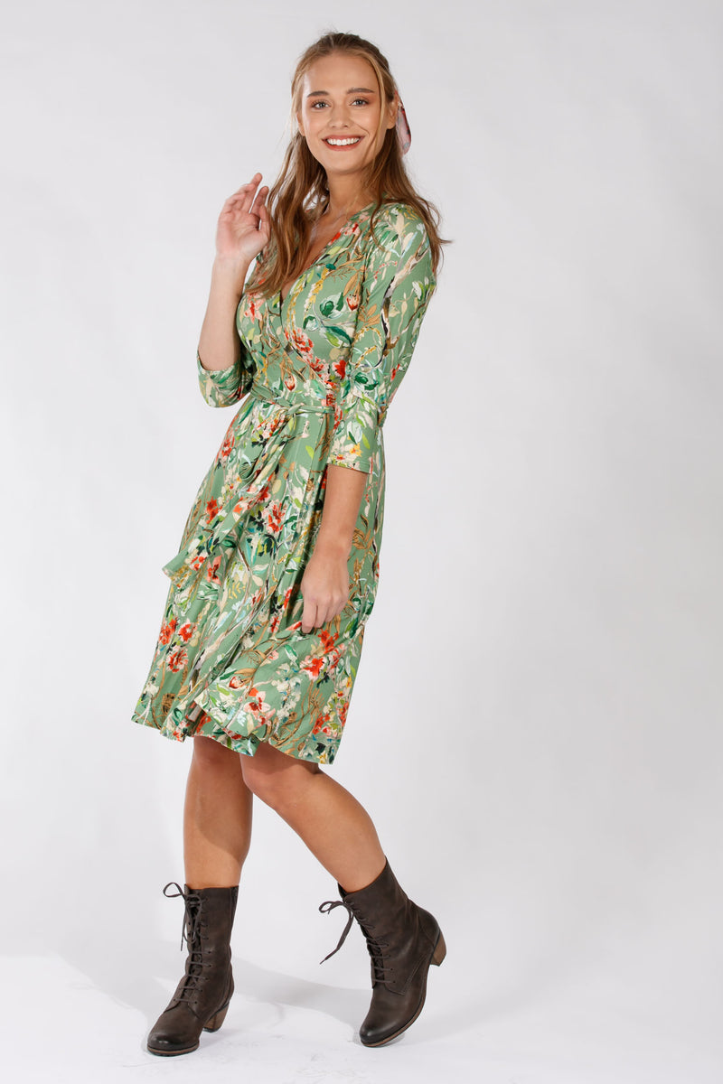 Malin dress - Autumn green