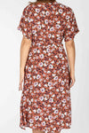 Alma dress - Rust flower