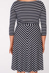 Lotta dress - Navy stripe