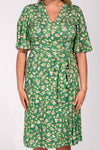 Greta dress - Green flower