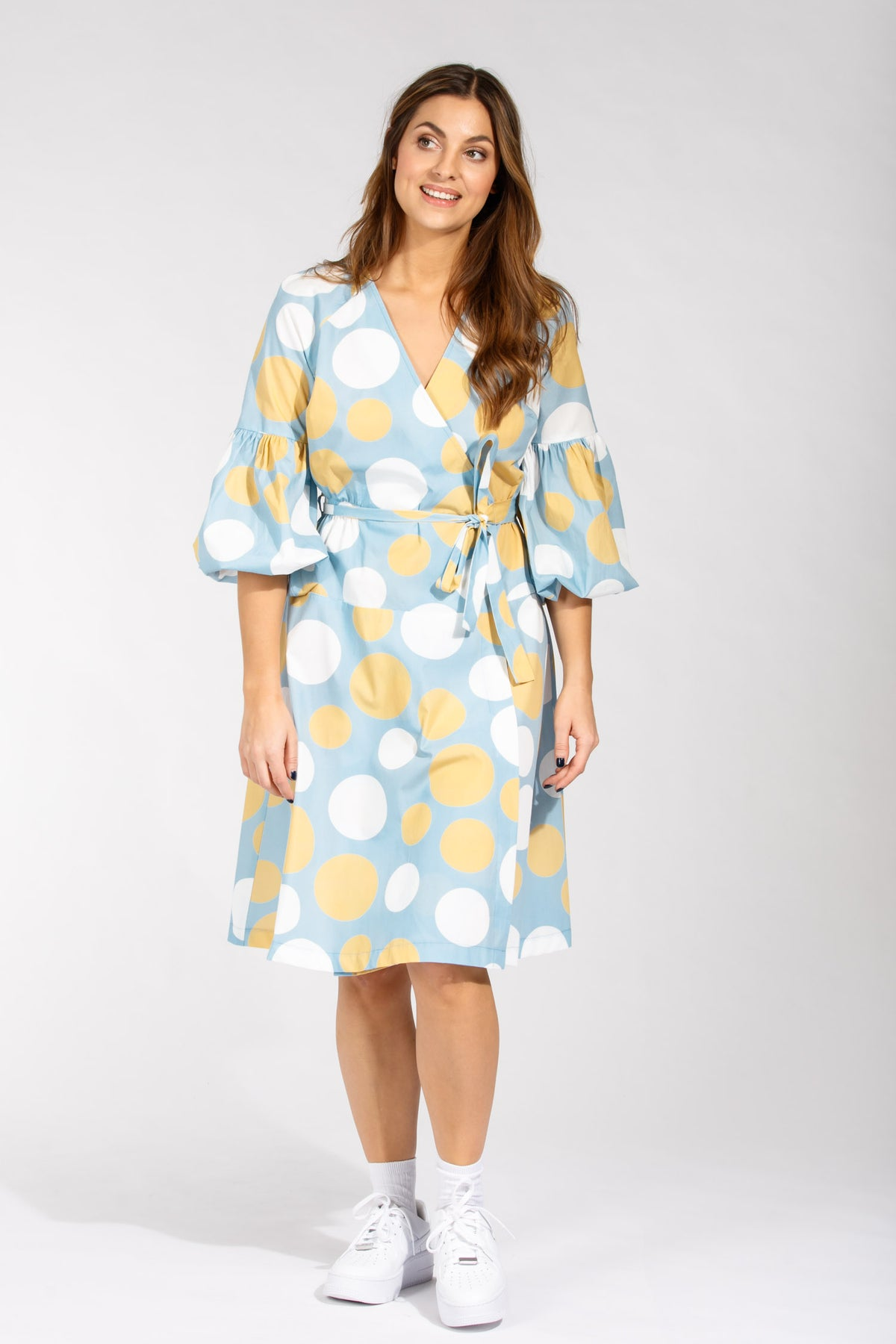 Colette poplin dress - Yellow dot