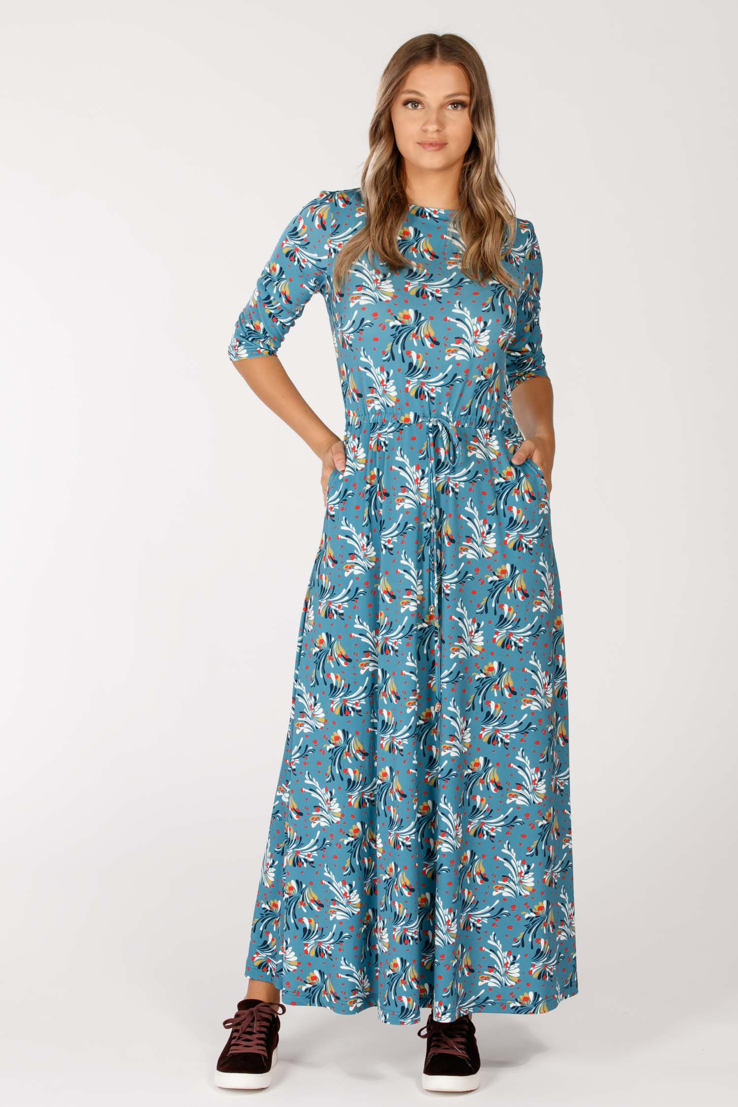 Kurbits long dress - Blue