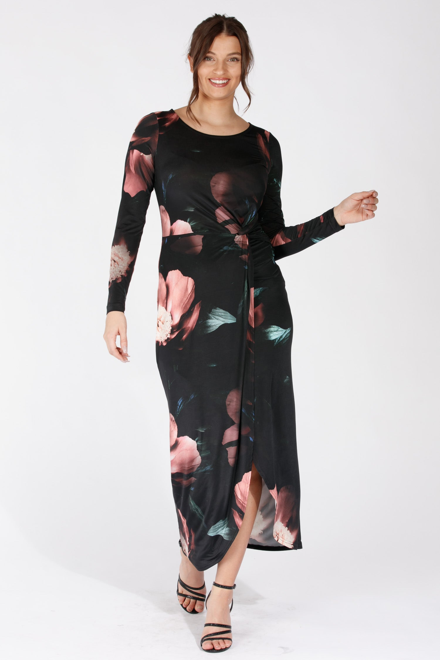 Vianne drape dress - Black