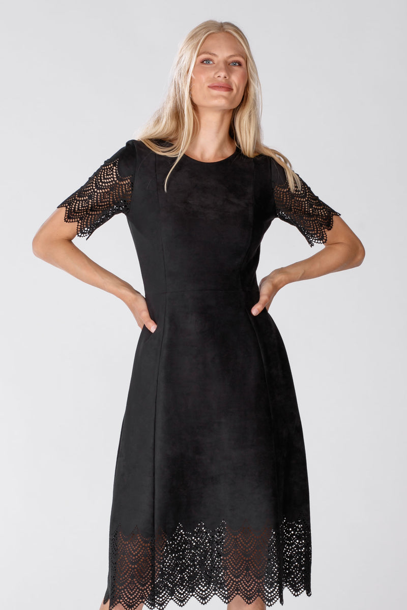 Savvy suede dress - Black