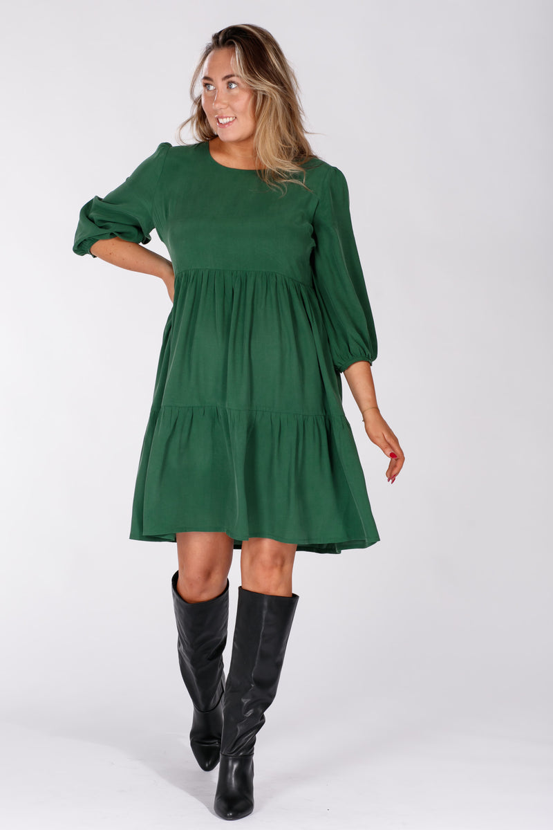 Loulou flounce dress - Green