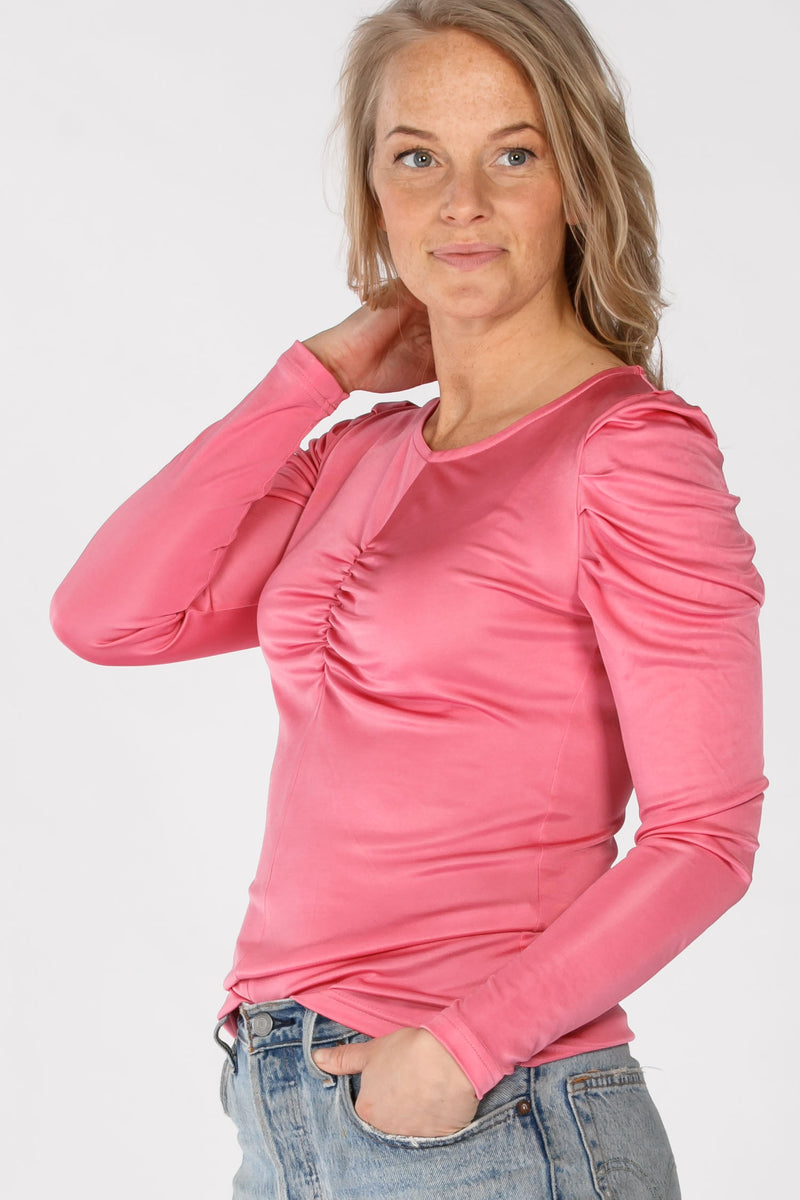 Sephora draped jersey top - Pink