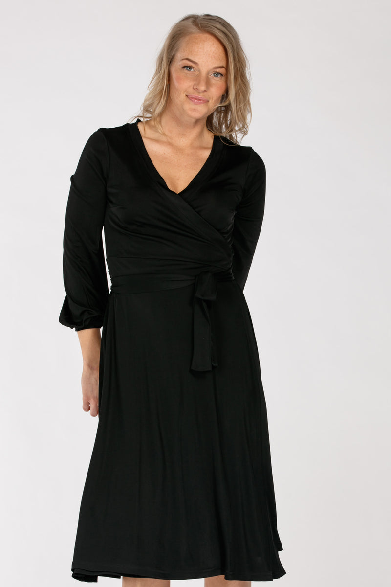 Sephora jersey wrap dress - Black