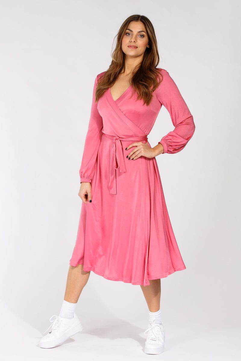 Sephora jersey wrap dress - Pink