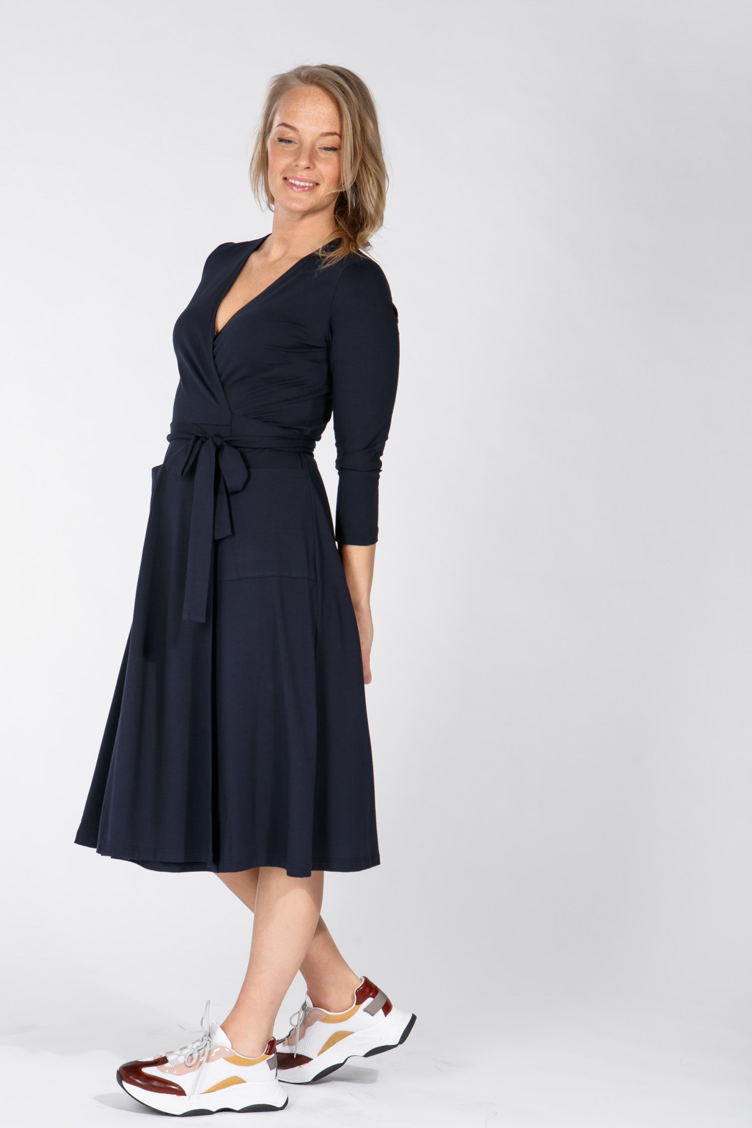 Smart wrap dress - Navy