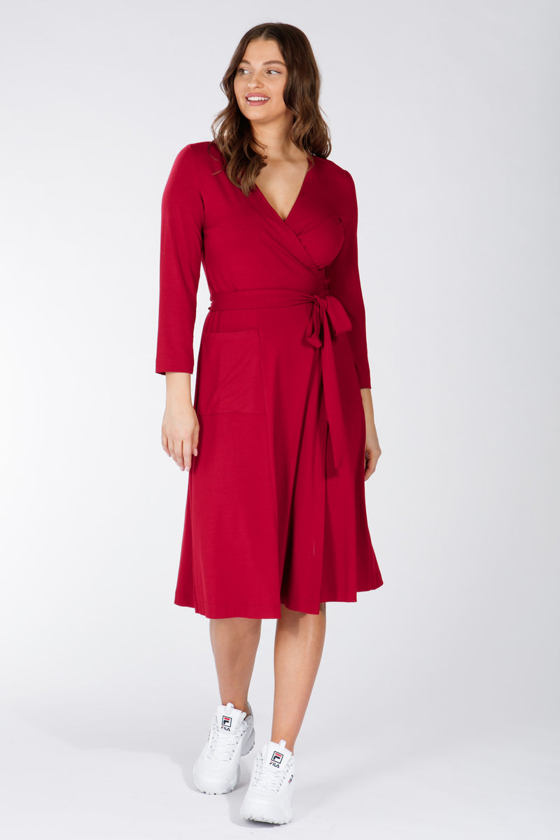 Smart wrap dress - Red