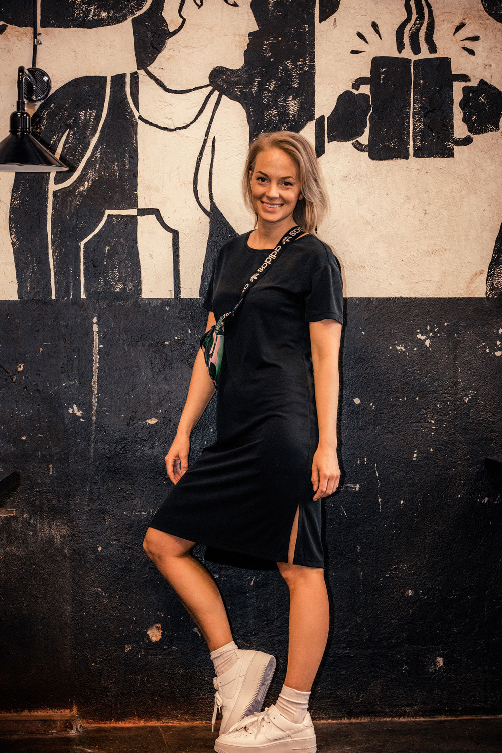 Casual modal dress - Black