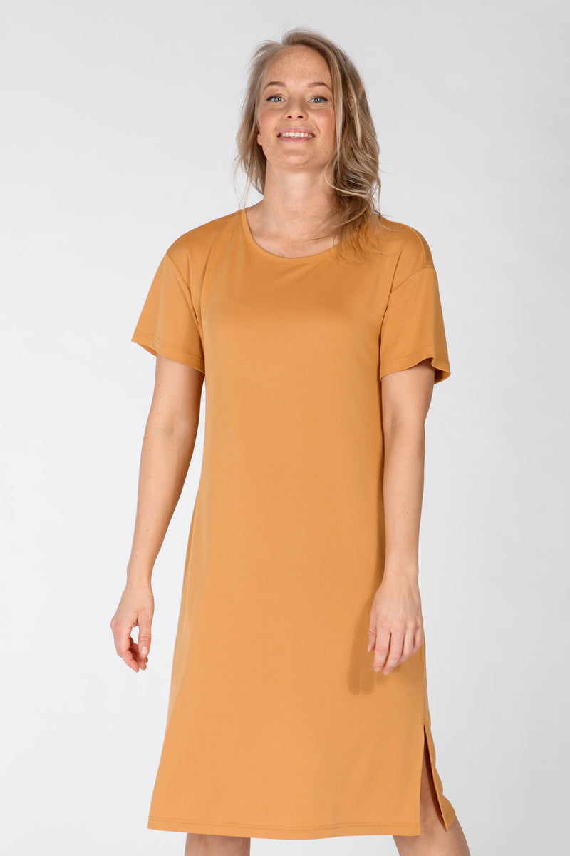 Casual modal dress - Corn