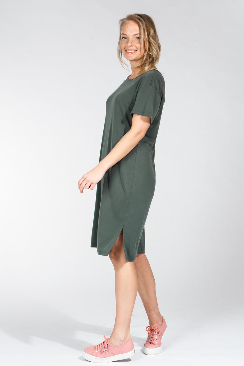 Casual modal dress - Forest