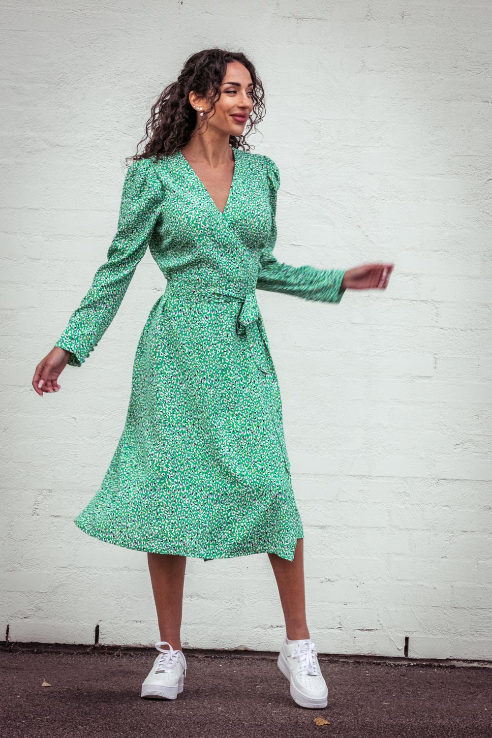 Wrap it up dress - Green