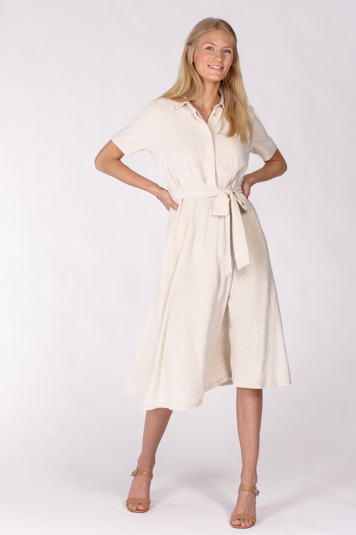 Linnea linen dress - Natural