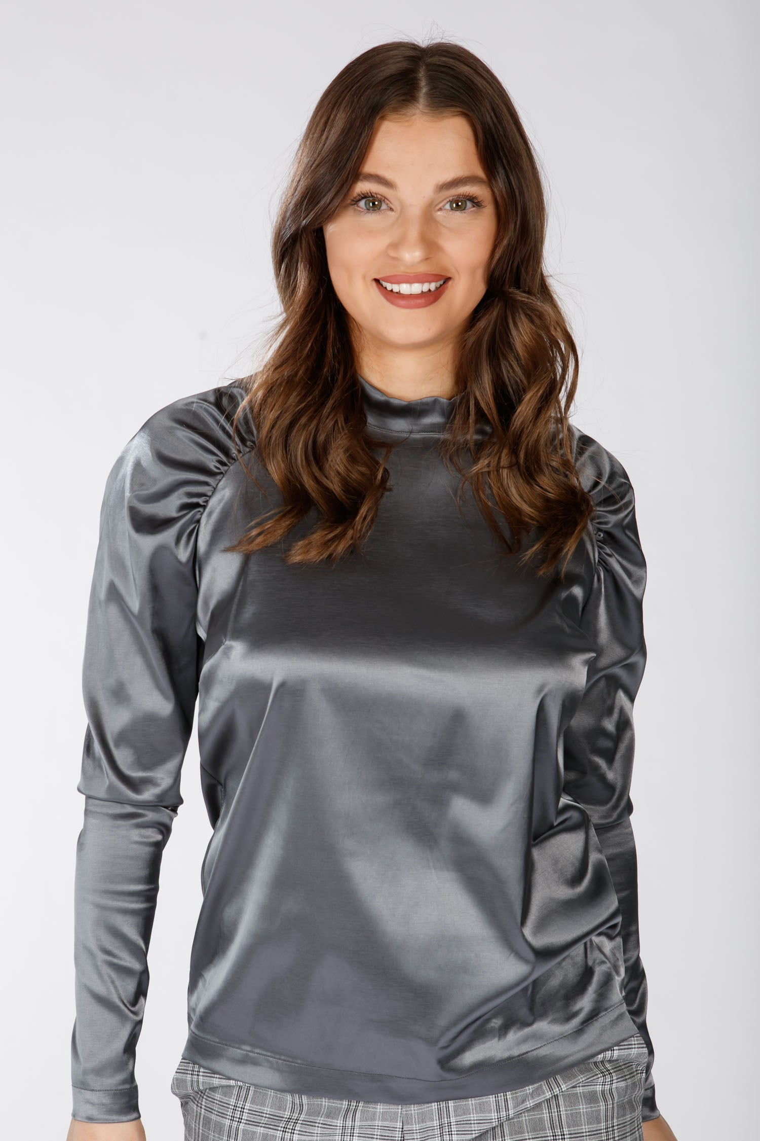 Puff raglan blouse - Grey