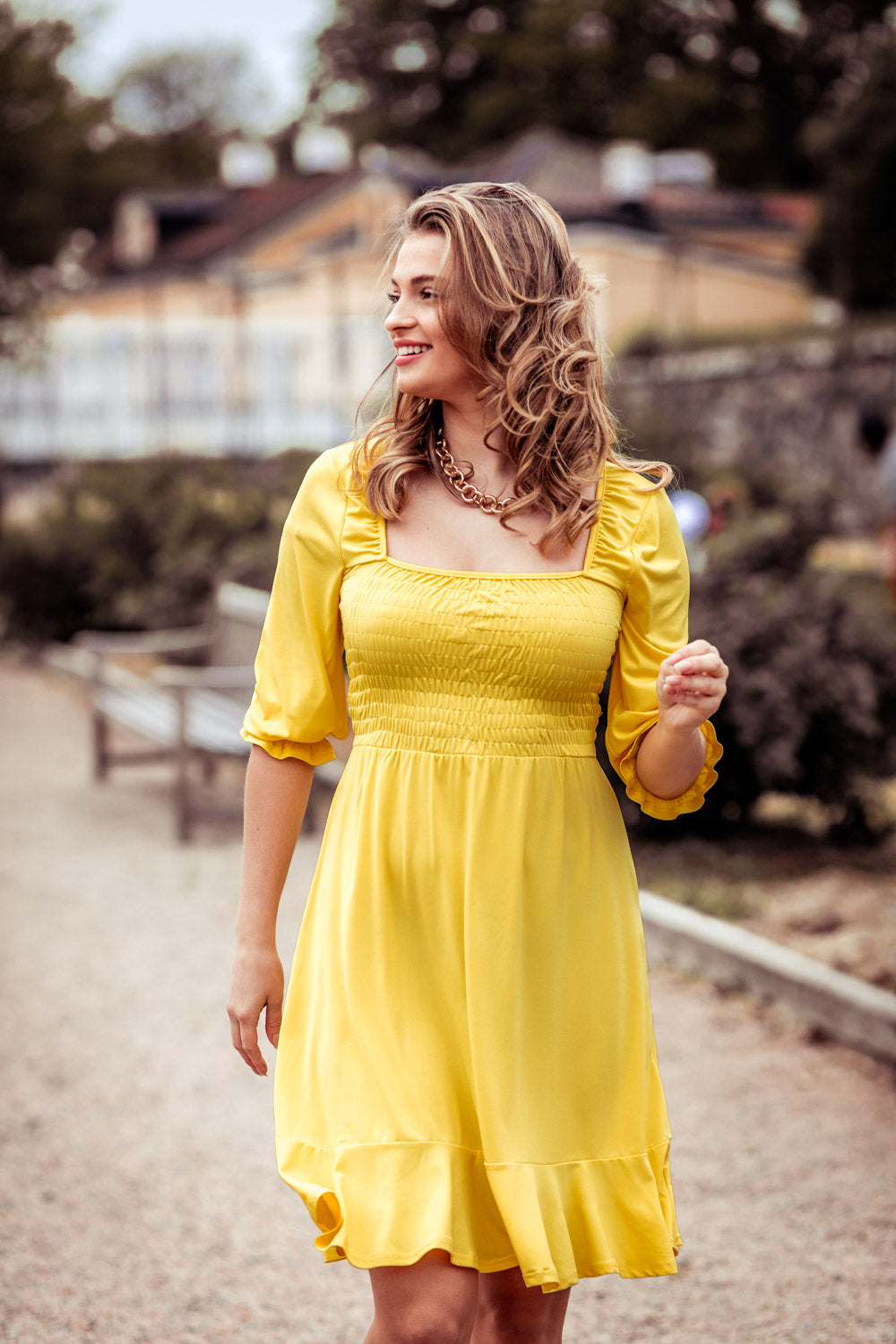 Lolita smock dress - Yellow