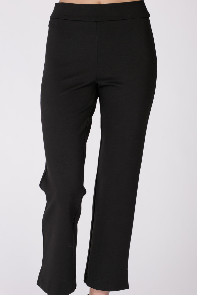 Sally crop stretch trousers - Black
