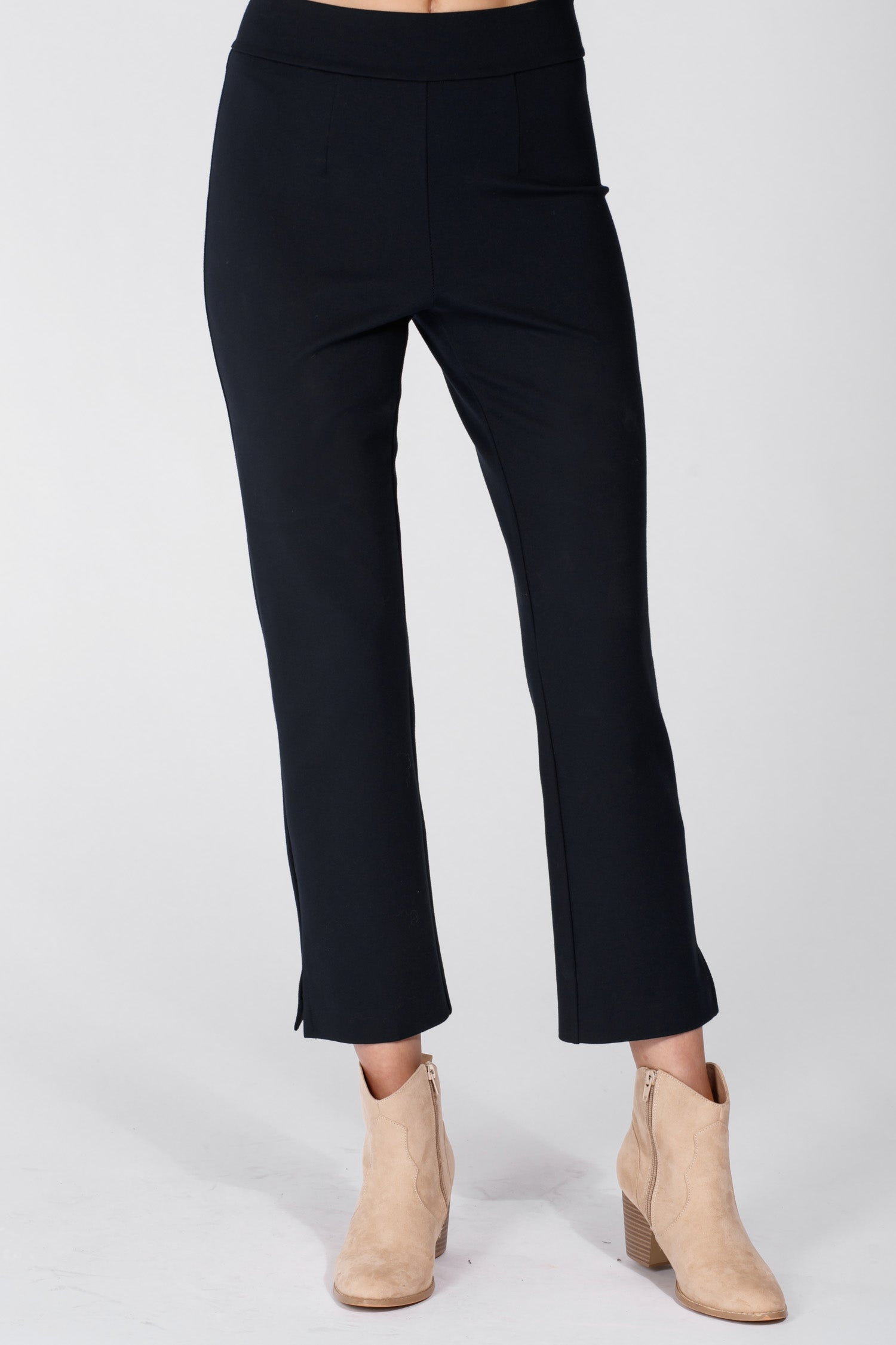 Sally crop stretch trousers - Navy