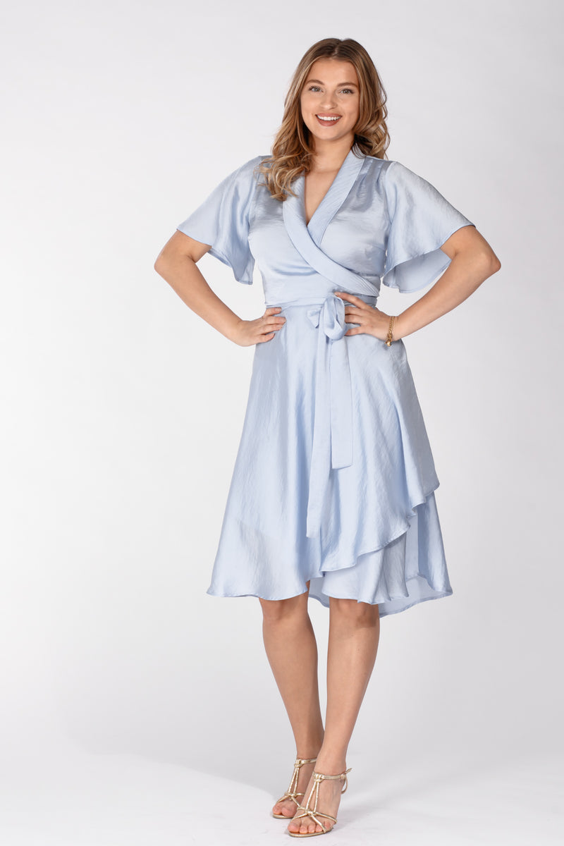Solange wrap dress - Denim blue
